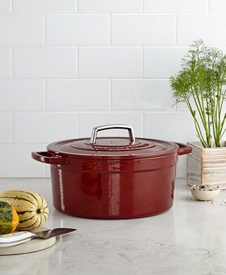 Martha Stewart Collection Collector's Enameled Cast Iron 6 Qt. Round Casserole, Only at Macy's