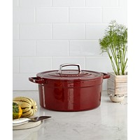 Deals on Martha Stewart Collection Collectors Enameled Cast Iron 6 Qt