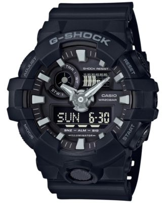 Image of G-Shock Men's Analog-Digital Black Resin Strap Watch 53x58mm GA-700-1B