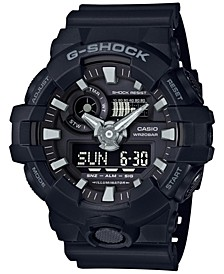 Men's Analog-Digital Black Resin Strap Watch 53x58mm GA-700-1B