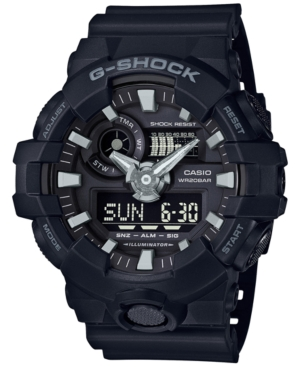 G-Shock Men's Analog-Digital Black Resin Strap Watch 53x58mm