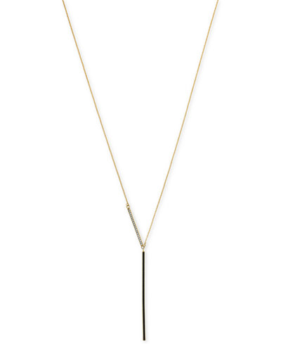 Vince Camuto Gold-Tone Bar Lariat Necklace