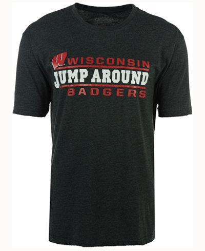 Colosseum Men's Wisconsin Badgers Verbiage Stack T-Shirt