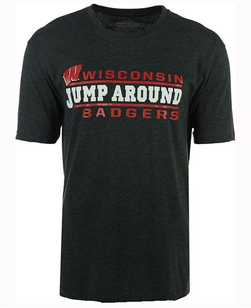Men's Wisconsin Badgers Verbiage Stack T-Shirt