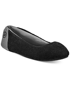 Isotoner Signature Women's Microterry Mesh Ballet Slippers