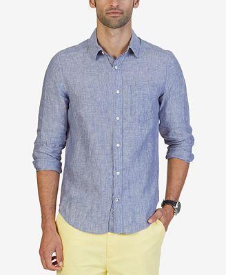 Nautica Men's Linen Shirt - Casual Button-Down Shirts - Men - Macy's