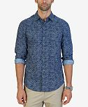 Nautica Men's Slim-Fit Chambray Floral Shirt