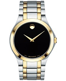 Men's Swiss Collection Two-Tone PVD Stainless Steel Bracelet Watch 40mm, Created for Macy's