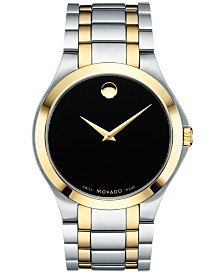 Movado Men's Swiss Collection Two-Tone PVD Stainless Steel Bracelet Watch 40mm, Created for Macy's