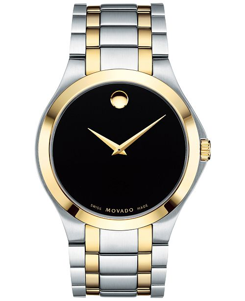 3eefaf35a9f ... Movado Men s Swiss Collection Two-Tone PVD Stainless Steel Bracelet  Watch 40mm