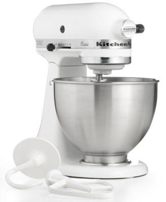 kitchenaid k45sswh classic 4 5 qt stand mixer small appliances rh macys com