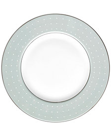 Monique Lhuillier Waterford Dinnerware, Etoile Platinum Blue Accent Plate