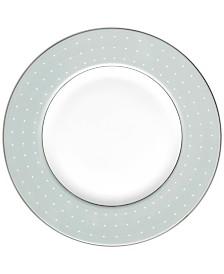 Monique Lhuillier Waterford Dinnerware, Etoile Platinum Blue Accent Plate