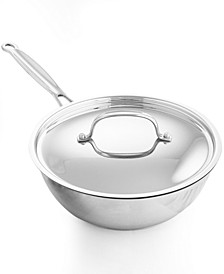 Chef's Classic Stainless Steel 3 Qt. Covered Chef's Pan