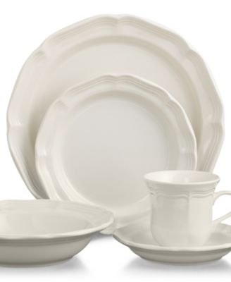 Product Details. A gently scalloped edge in hardy stoneware gives Mikasau0027s French Countryside ...  sc 1 st  Macyu0027s & Mikasa French Countryside 40-Pc. Dinnerware Set Service for 8 ...