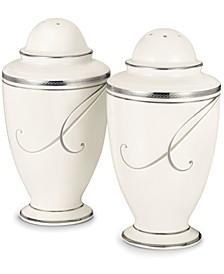 Dinnerware, Platinum Wave Salt and Pepper Shakers
