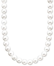 "Pearl Necklace, 16"" 14k Gold A+ Akoya Cultured Pearl Strand (6-6-1/2mm)"