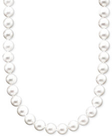 "Belle de Mer Pearl Necklace, 16"" 14k Gold A+ Akoya Cultured Pearl Strand (6-6-1/2mm)"
