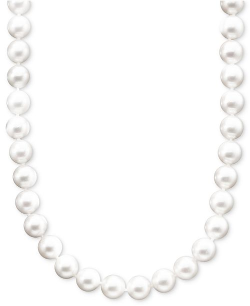 "Belle de Mer Pearl Necklace, 18"" 14k Gold A+ Akoya Cultured Pearl Strand (8-8-1/2mm)"