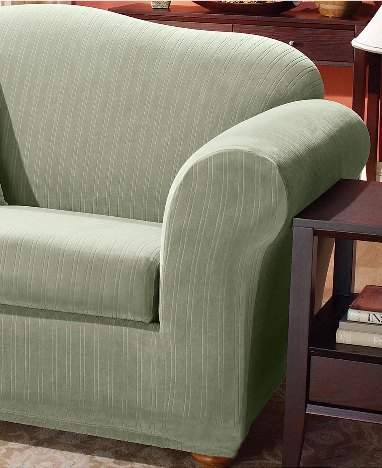 Stretch 2 Piece T Cushion Sofa Slipcover Hereo Sofa