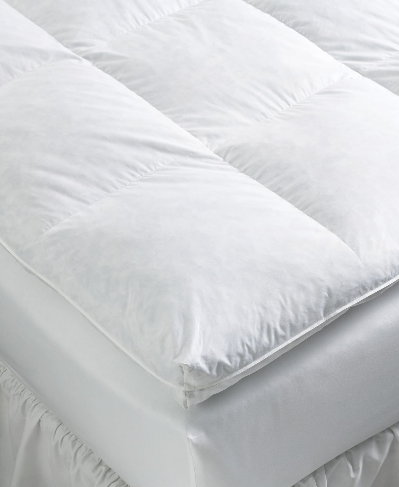 pacific coast true baffle box featherbeds - mattress pads