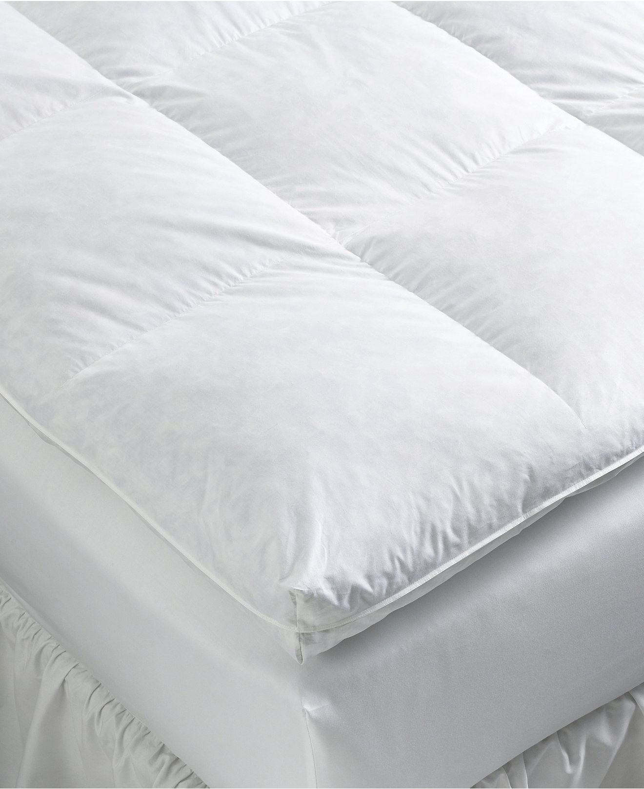Feather bed mattress - Pacific Coast True Baffle Box Featherbeds Mattress Pads Toppers Bed Bath Macy S
