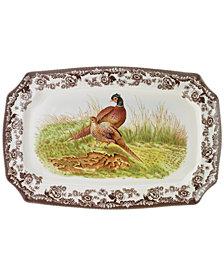 "Spode ""Woodland"" Pheasant Rectangular Platter, 17"""