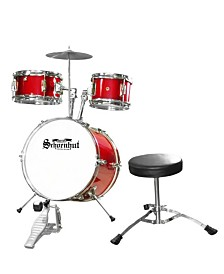 Schoenhut 5-piece Drum set with Seat