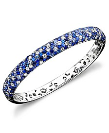 Saph Splash by EFFY® Shades Of Sapphire Bangle Bracelet (10-3/8 ct. t.w.) in Sterling Silver
