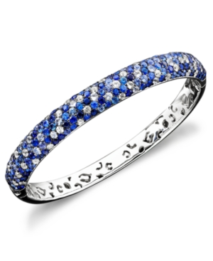 Saph Splash by Effy Shades Of Sapphire Bangle Bracelet (10-3/8 ct. t.w.) in Sterling Silver