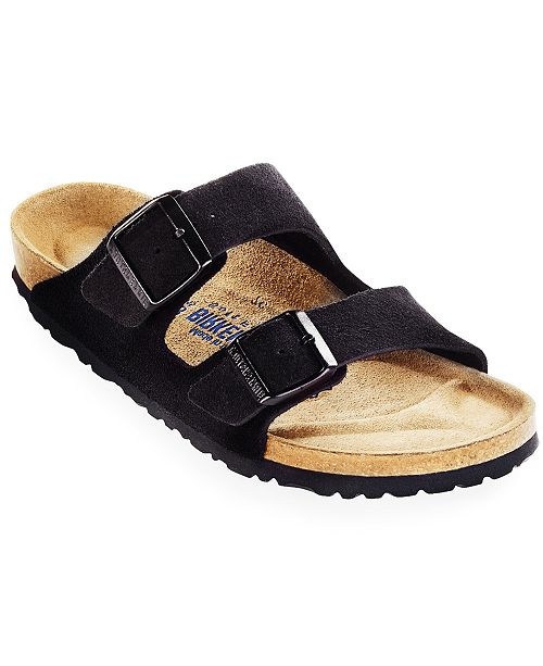 d37f4533bfb Birkenstock Men s Arizona Soft Footbed Two Band Suede Sandals ...