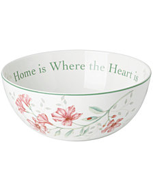 Lenox Dinnerware, Butterfly Meadow Bowl Where the Heart Is
