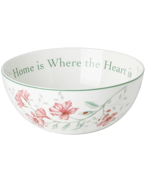 Lenox Butterfly Meadow Bowl Where the Heart Is