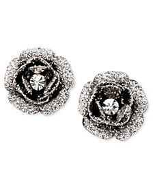 Betsey Johnson Rose Bud Stud Earrings