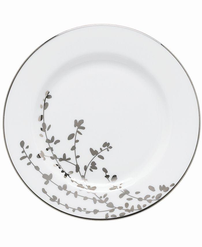 kate spade new york - Gardner Street Platinum Appetizer Plate