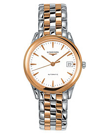 Longines Men's Flagship Automatic Two-Tone Stainless Steel Bracelet Watch L47743227