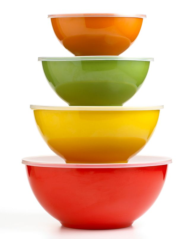 Martha Stewart Collection CLOSEOUT! Harvest Multi Bowls with Lids, Set of 4, Created for Macy's