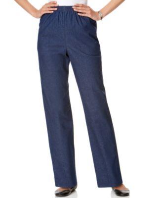 X-Future Men Jeans Flat-Front Elastic Washed Plus Size Denim Jeans Pants
