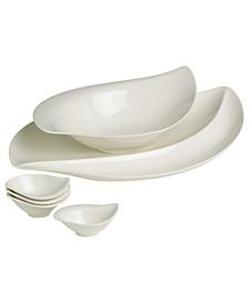 Serveware, New Cottage 6 Piece Appetizer Set