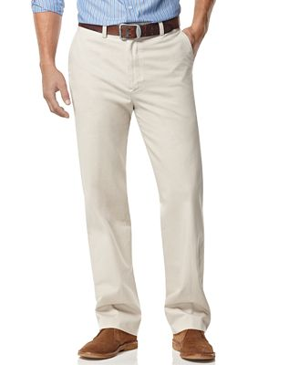 Nautica Big and Tall Men's Pants, Anchor Flat Front Twill Pants ...