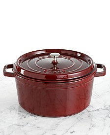 Staub Cocotte, 9 Qt. Cast Iron Round French Oven