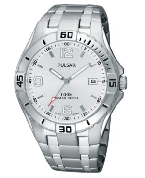 Pulsar Watch, Men's Stainless Steel Bracelet PXH705