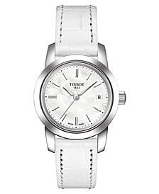 Tissot Women's White Leather Strap Watch 28mm T0332101611100