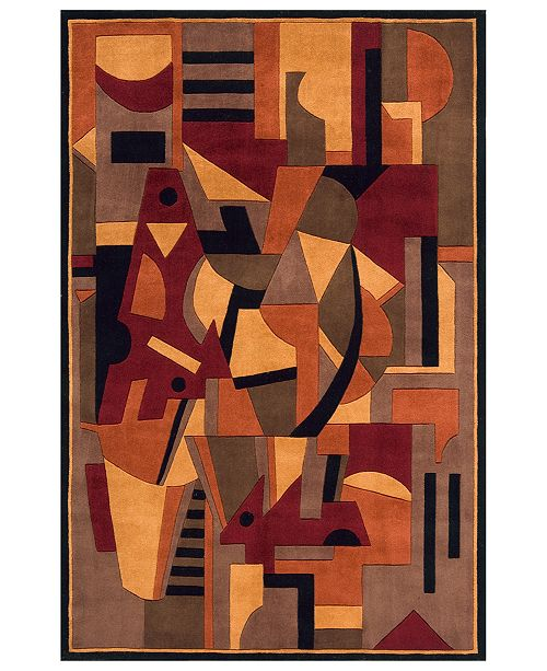 """Momeni Area Rug, New Wave NW-108 Pomegranate 2' 6"""" x 12' Runner"""