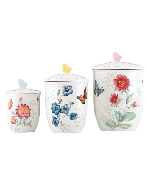 Lenox Butterfly Meadow Set/3 Canisters, Created for Macy's