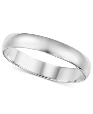 14k White Gold 26mm Wedding Band Rings Jewelry Watches Macys