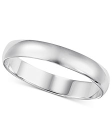14k White Gold 2-6mm Wedding Band