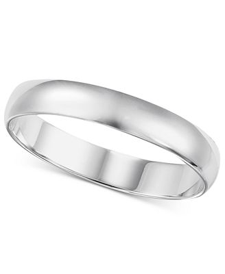 14k White Gold 2 6mm Wedding Band Rings Jewelry & Watches Macy s