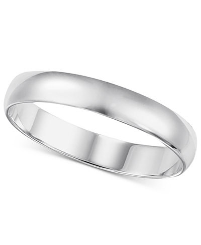 wedding band 4mm in 14k white gold - White Gold Wedding Ring