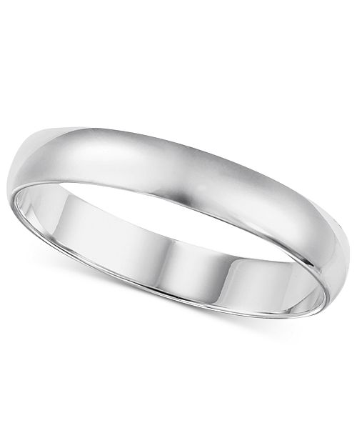 44d20f2f1 Macy's 14k White Gold 2-6mm Wedding Band & Reviews - Rings ...